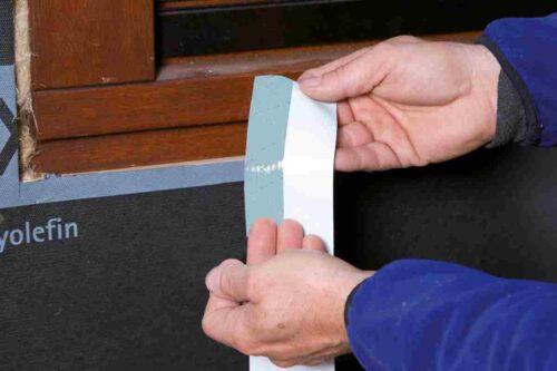 Tuuletõkkekanga SOLITEX-FRONTA aknaühendused TESCON PROFECT